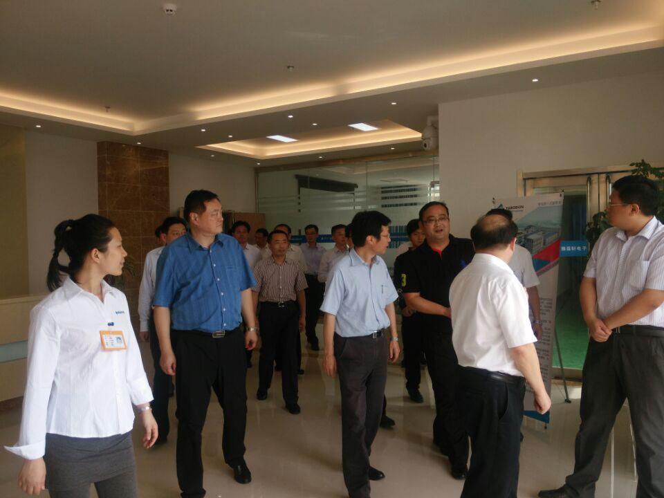 芜湖市委书记潘朝晖、市长等莅临我司视察调研